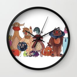 A Big Monster Family Wall Clock