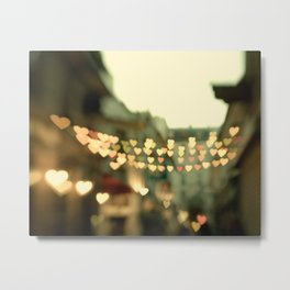 Looking for Love - Paris Hearts Metal Print