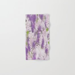 Purple - Lavender Fluffy Floral Abstract Hand & Bath Towel