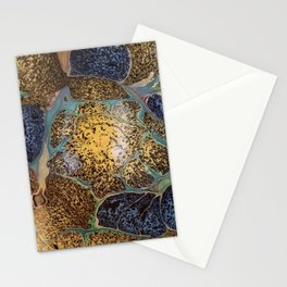 Golden starburst Stationery Cards