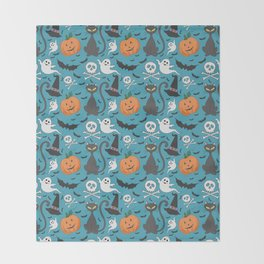 Cute Halloween Throw Blanket