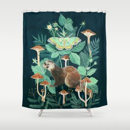 Ferret and Moth Shower Curtain