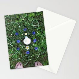 Garlic Scape Mandalla Stationery Cards