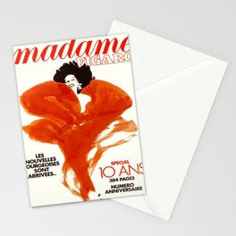 Plakat madame figaro les nouvelles Stationery Cards