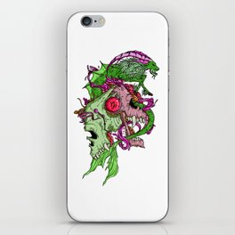 Capricorn Skull Zodiac Sign For December and January Birth Day Gift iPhone Skin
