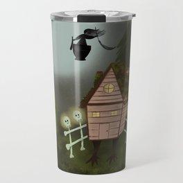 Baba Yaga Forest Folk Art Travel Mug