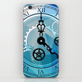 Blue Clock iPhone Skin