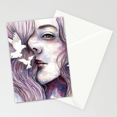 Dreams of freedom, watercolor artwork Stationery Cards