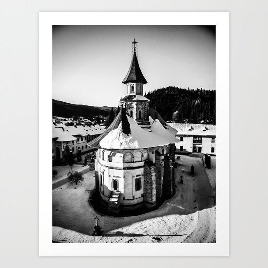 The Katholikon at Putna Monastery, Romania Art Print