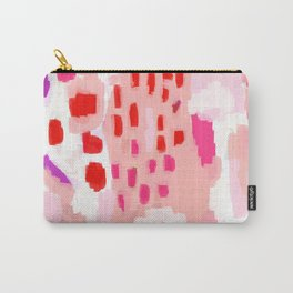 Wesli - minimalist pink purple white trendy millennial pink home decor canvas art Carry-All Pouch