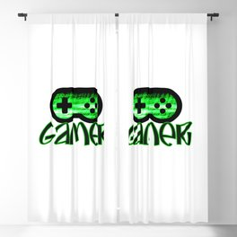 Gamer Green Blackout Curtain