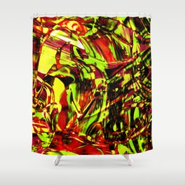 Fluid Painting 2 (Yellow Version) Shower Curtain