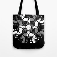 leather Tote Bags featuring LEATHER by muckypets