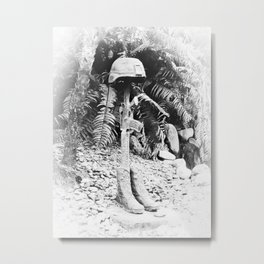 Soldier's Last Stand Metal Print