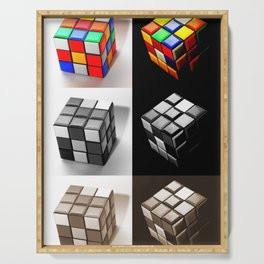 Rubiks Cube Serving Tray
