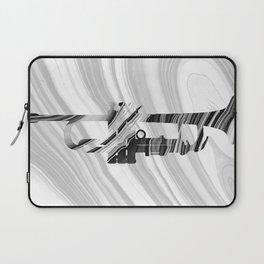 Marbled Music Art - Trumpet - Sharon Cummings Laptop Sleeve