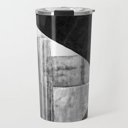 Stone Circle Meets Square Concrete Abstract Travel Mug