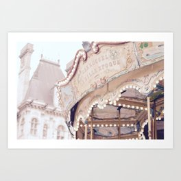 Classic Paris French Carousel Art Print
