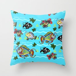 Dead Fish Society Throw Pillow