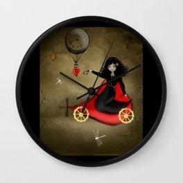 Keys to my Heart Dark Steampunk Valentine Wall Clock
