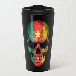Dark Skull with Flag of Cameroon Travel Mug
