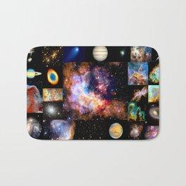 Space Galaxy Nebula Collage Bath Mat