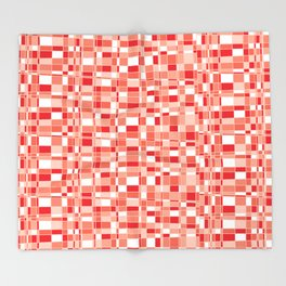 Mod Gingham - Red Throw Blanket