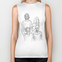 one direction Biker Tanks featuring One Direction by Cécile Pellerin