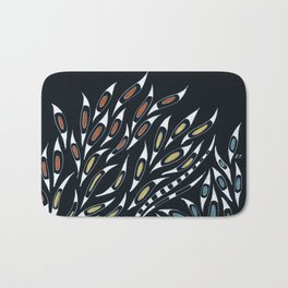 Doodle Abstract Funky Pattern Ink Bath Mat