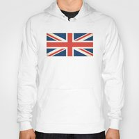 union jack Hoodies featuring Union Jack UK Flag by Laura Ruth