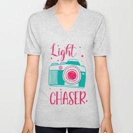 Light Chaser Photographer Photography Camera Lens Gift Unisex V-Neck