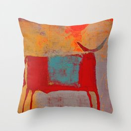 Toro Rojo Throw Pillow