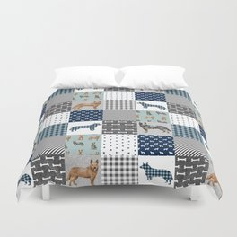 Australian Cattle Dog cheater quilt pattern dog lovers by pet friendly Duvet Cover