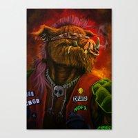 bebop Canvas Prints featuring BeBop by Andre Beja