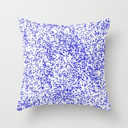 Blue Specks Throw Pillow
