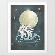 space tandem Art Print