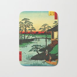 Mokubo Temple on Uchi River Japan Bath Mat