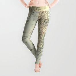 Vintage Map of Africa Leggings