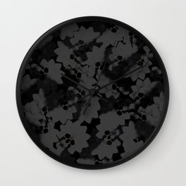No.2 - Beauty isn't only skin deep / After the Mona comes.... - BLACK on BLACK Pattern Wall Clock