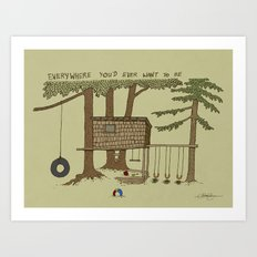 Tree Fort Art Print