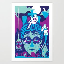 THE ROOTS OF HORROR ROCK :: THE CRAMPS Art Print