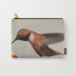 Rufous in for a Quick Lunch Carry-All Pouch