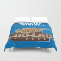 monster hunter Duvet Covers featuring Monster Hunter All Stars - Loc-Lac Riders by Bleached ink