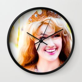 PRINCESS AURORA - SMILING Wall Clock