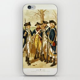 Infantry: Continental Army 1779-1783 by H.A. Ogden (1879) iPhone Skin