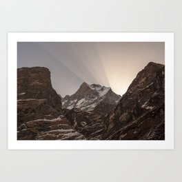 Shards of Light- Nepal Art Print