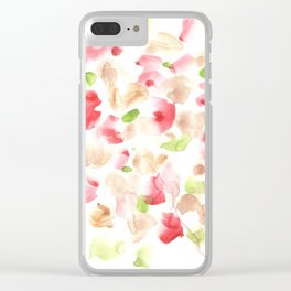 170722 Colour Loving 1|Modern Watercolor Art | Abstract Watercolors Clear iPhone Case