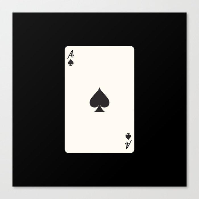 Ace of Spades Card Leinwanddruck