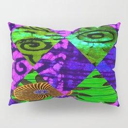 Mardi Gras African Print Pillow Sham