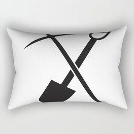shovel and pickaxe Rectangular Pillow